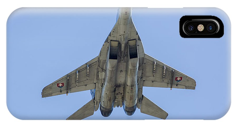 Ostrava IPhone X Case featuring the photograph An Mig-29as Fulcrum Of The Slovak Air by Timm Ziegenthaler