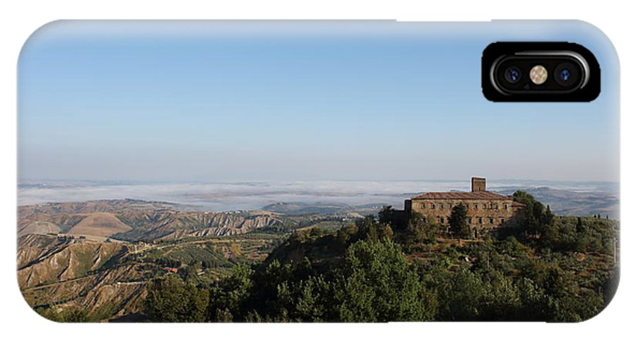 Old IPhone X / XS Case featuring the photograph An Old House In The Tuscany Hills by Samantha Mattiello