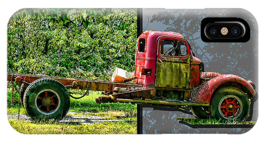Truck IPhone X Case featuring the photograph An Old Relic by Ericamaxine Price