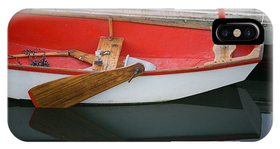 Boat IPhone X Case featuring the photograph An Old Sailboat Tied To The Dock by Michael S. Lewis