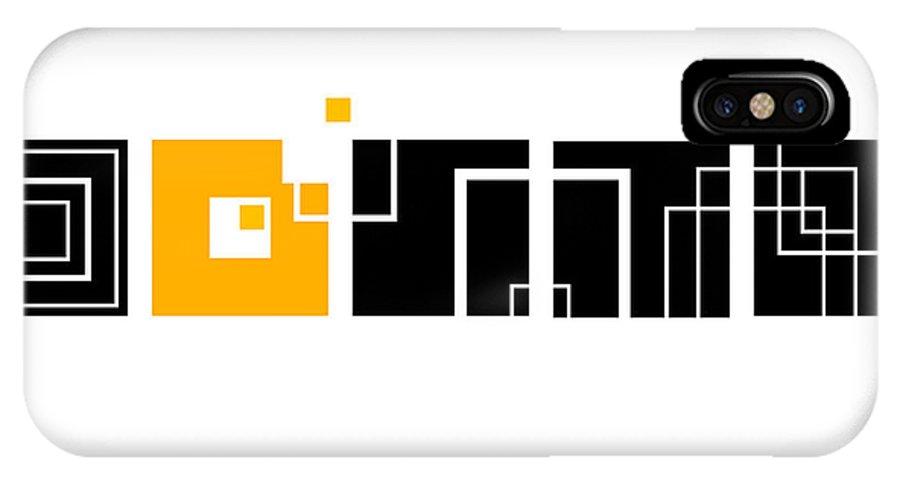 Orange IPhone X Case featuring the digital art An Orange One by Ewelina Karbownik
