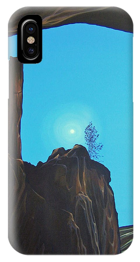 New Mexico IPhone X Case featuring the painting Anasazi Dreams by Hunter Jay