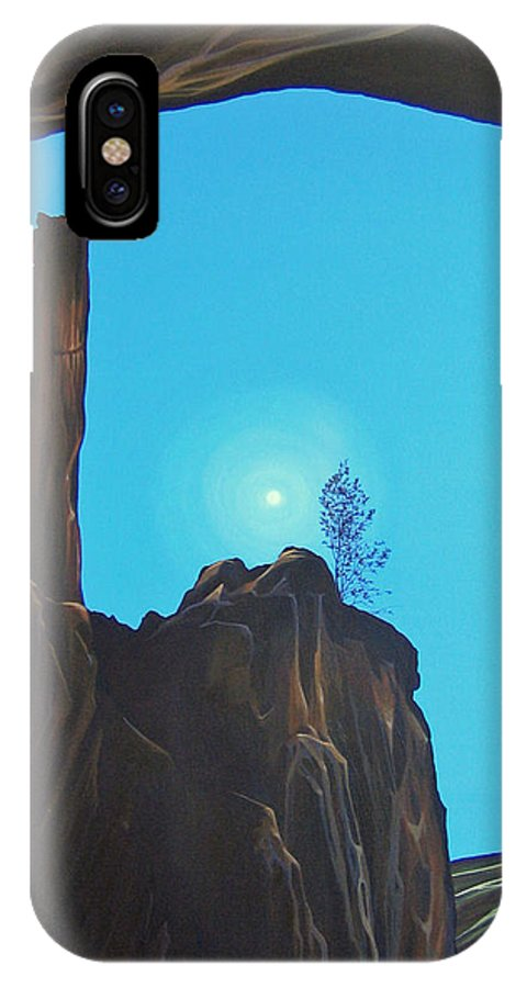 New Mexico IPhone X / XS Case featuring the painting Anasazi Dreams by Hunter Jay