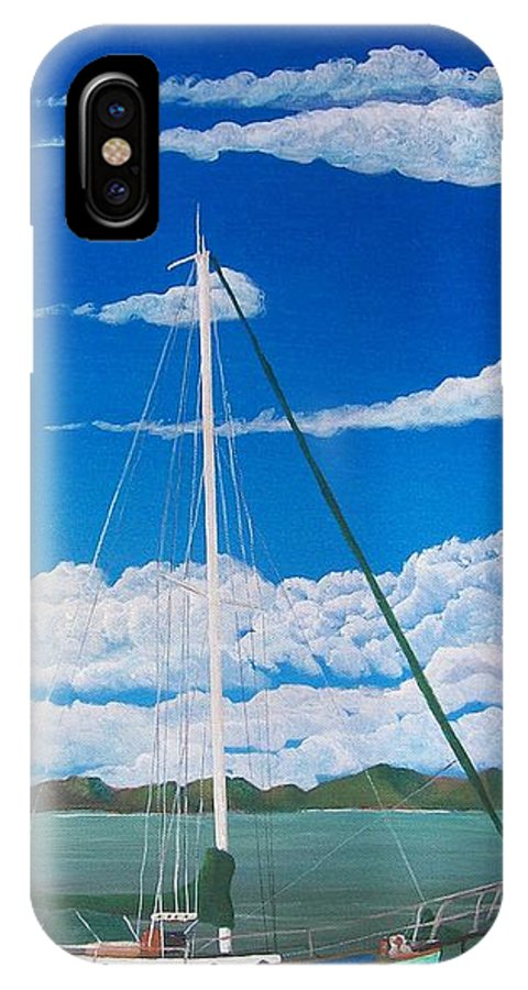 Anchored IPhone Case featuring the painting Anchored by Tony Rodriguez