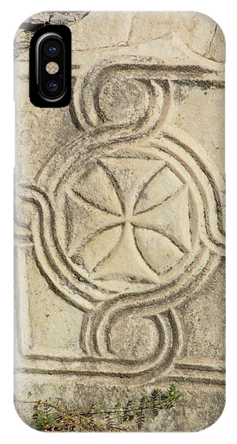Asia IPhone X Case featuring the photograph Ancient Cross Pattee by Emily M Wilson
