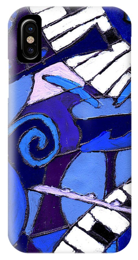 Blues IPhone X Case featuring the painting and All that Jazz 3 by Wayne Potrafka