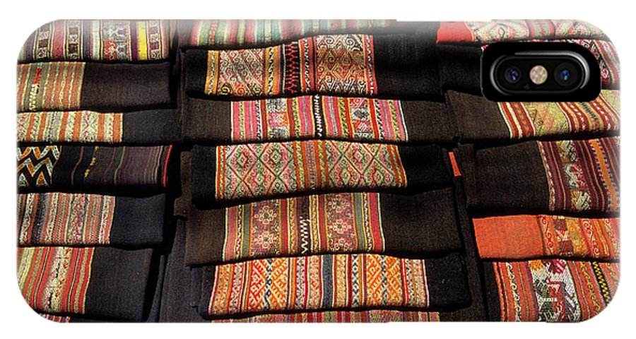 Bolivia IPhone Case featuring the photograph Andean Textile Market by James Brunker