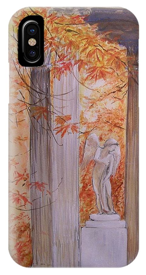 Angel IPhone Case featuring the painting Ange Petit Trianon Versailles by Lizzy Forrester