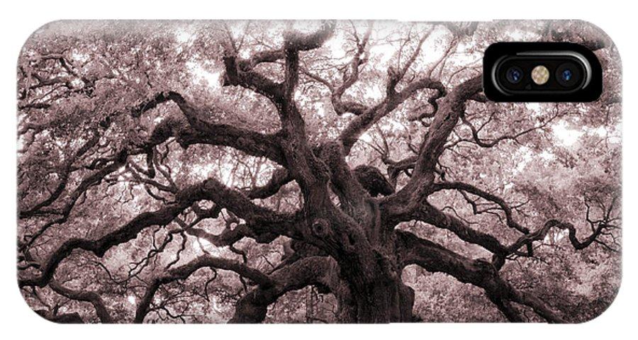 Angel Oak IPhone X Case featuring the photograph Angel Oak Tree by Dustin K Ryan