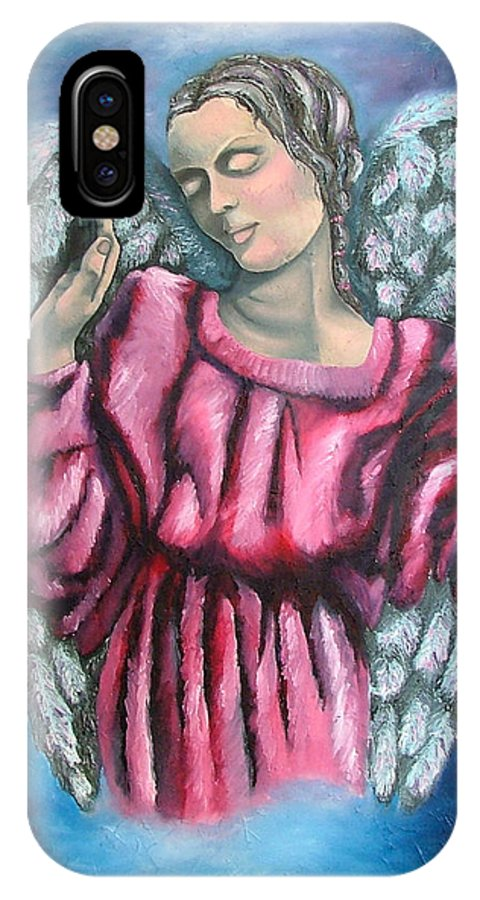 Angel IPhone X Case featuring the painting Angel Of Hope by Elizabeth Lisy Figueroa
