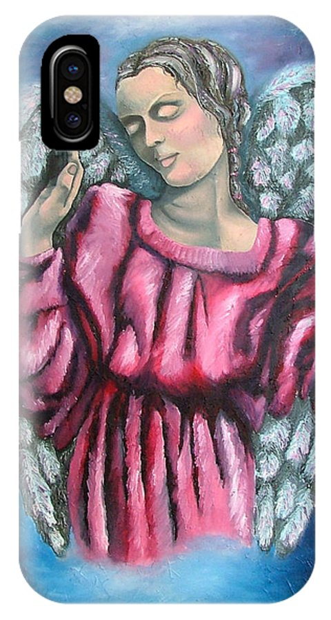 Angel IPhone Case featuring the painting Angel Of Hope by Elizabeth Lisy Figueroa