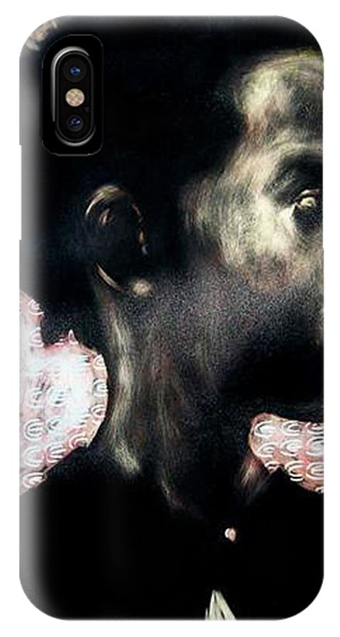 IPhone X Case featuring the mixed media Angel Of Mercy by Chester Elmore