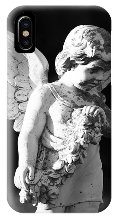 Statues IPhone X Case featuring the photograph Angel One by Martina Fagan