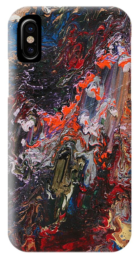Fusionart IPhone X / XS Case featuring the painting Angel Rising by Ralph White