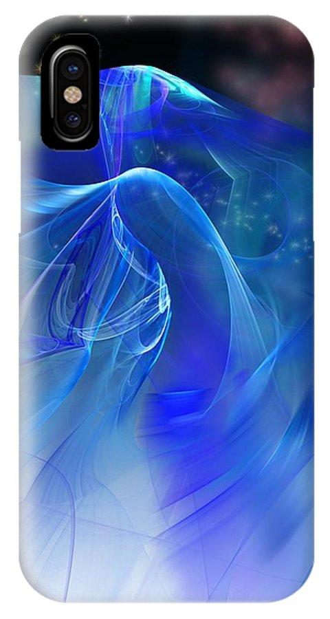 Fine Art IPhone X Case featuring the digital art Angel Wings by David Lane