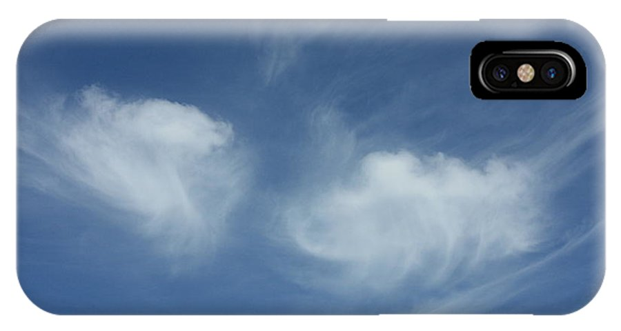 Angel Wings IPhone X Case featuring the photograph Angel Wings In The Sky by Carol Groenen