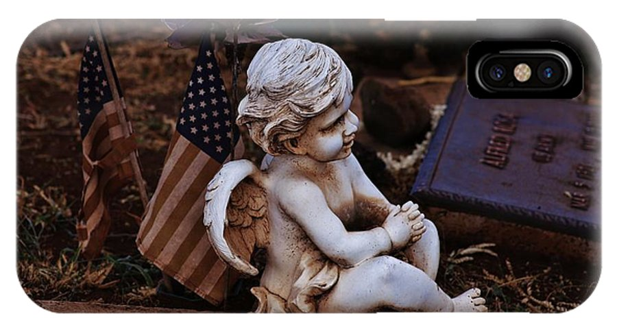 Angel IPhone X Case featuring the photograph Angelic Sentry by Craig Wood