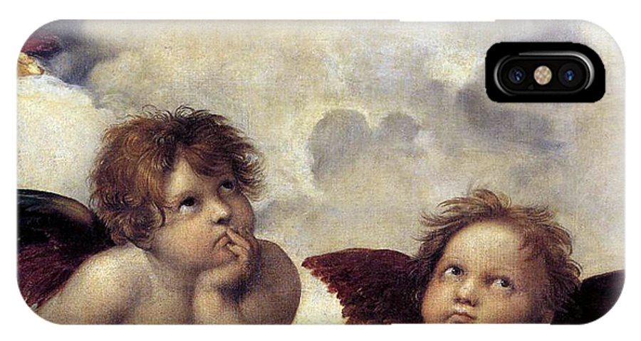 Angels IPhone X Case featuring the painting Angels by Munir Alawi