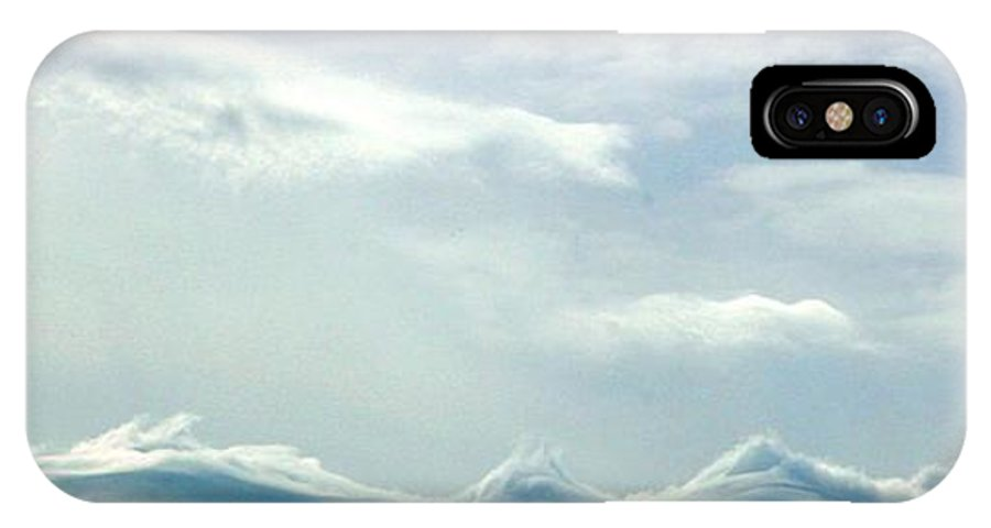 Cloud IPhone X Case featuring the photograph Angels Playground by David Dunham