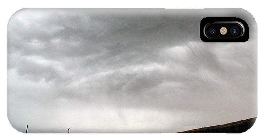 Big Sky IPhone X / XS Case featuring the photograph Angry Sky - Montana by D'Arcy Evans