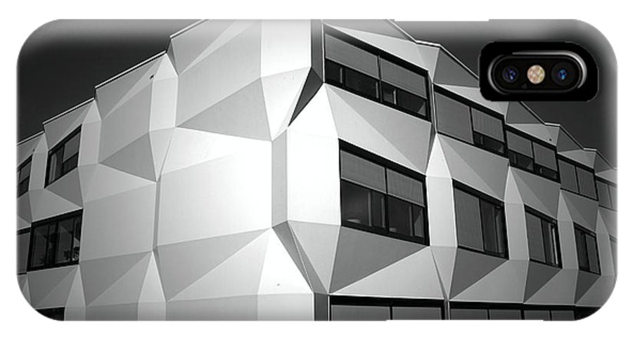 Black And White IPhone X Case featuring the photograph Angular Architecture by Robert Peterson