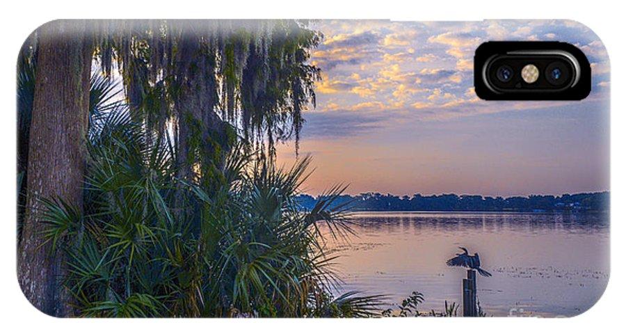 Lake Virginia IPhone X Case featuring the photograph Anhinga's Paradise by Amanda Sinco