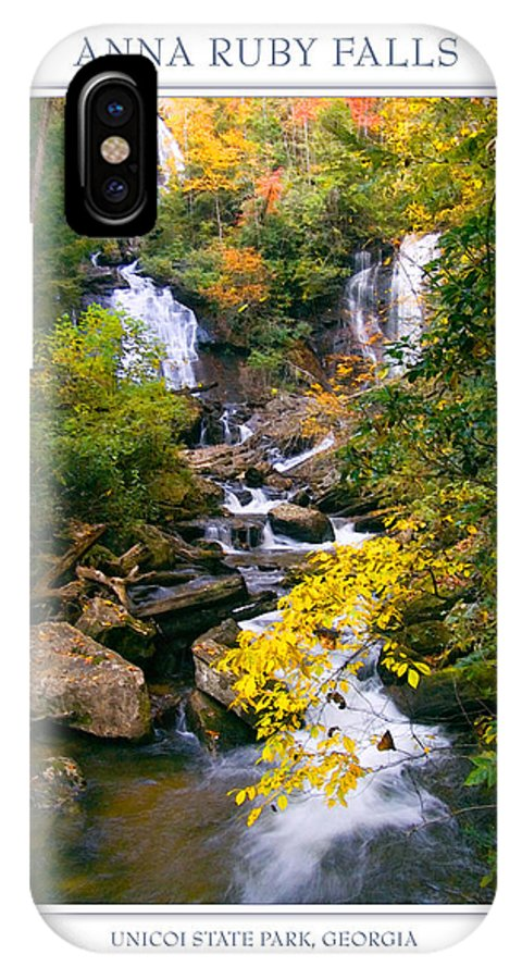 Landscape IPhone X Case featuring the photograph Anna Ruby Falls by Peter Muzyka