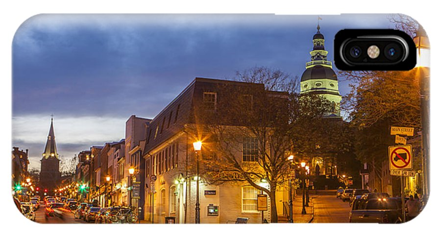 Annapolis IPhone X Case featuring the photograph Annapolis Main Street by Richard Nowitz