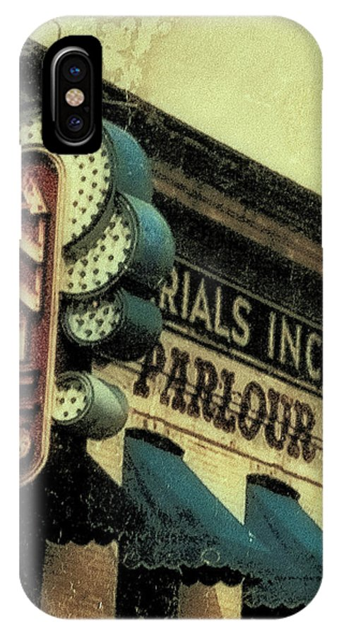 Annies Parlar IPhone X Case featuring the photograph Annie's Parlour At The U Of M by Susan Stone
