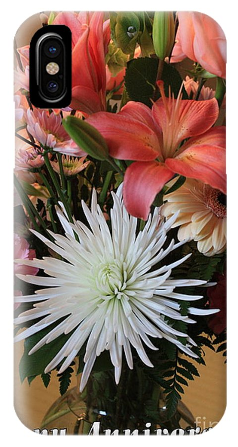 Bouquet IPhone X Case featuring the photograph Anniversary Card by Carol Groenen