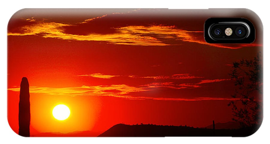 Sunset IPhone X Case featuring the photograph Another Beautiful Arizona Sunset by James BO Insogna