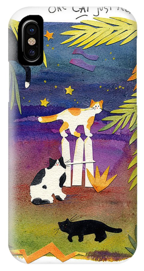 Cats IPhone X / XS Case featuring the painting Another Cat 5 by Sheila Golden