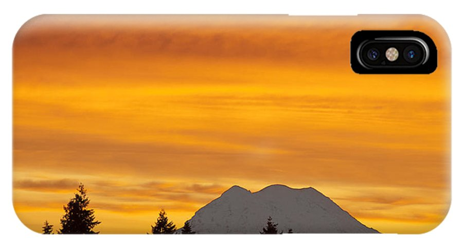 Northwest IPhone X Case featuring the photograph Another Day Brewing by Larry Keahey