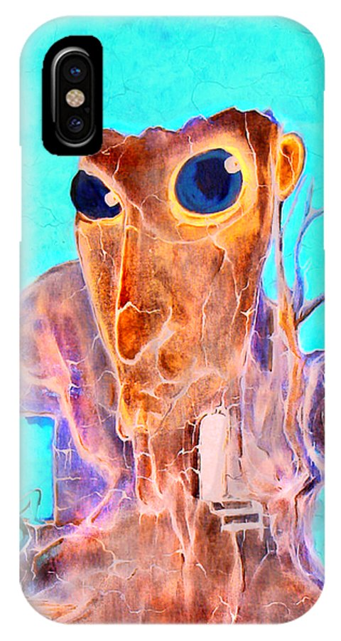 Surreal Color Eyes Structure IPhone X Case featuring the painting Another Few Seconds In My Head by Veronica Jackson