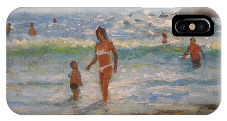 Sea IPhone X Case featuring the painting Another Hot Day by John Richie
