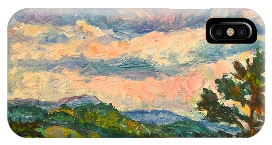 Landscape Paintings IPhone X / XS Case featuring the painting Another Rocky Knob by Kendall Kessler