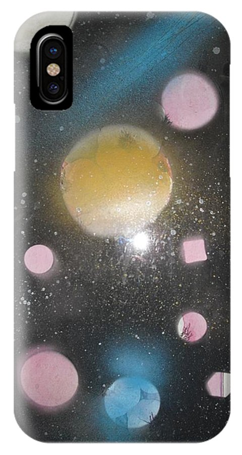 Space Art IPhone X Case featuring the painting Another Unknown Galaxia by Troix Johnson