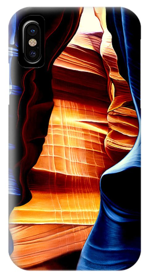 Landscape IPhone X Case featuring the painting Antelope Canyon by Anni Adkins