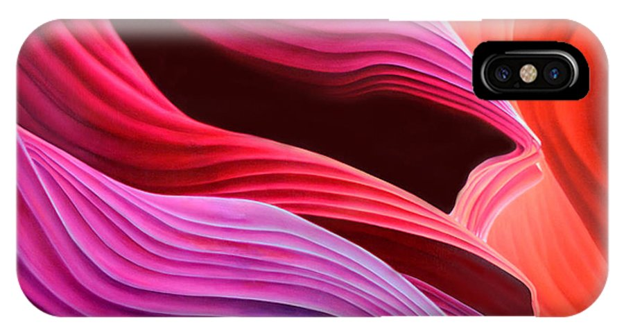 Antelope Canyon IPhone Case featuring the painting Antelope Waves by Anni Adkins