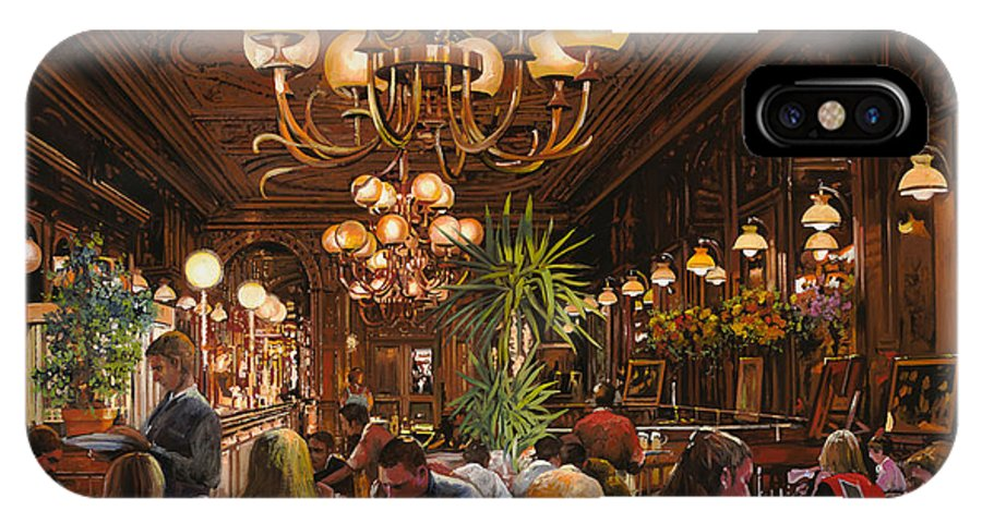 Brasserie IPhone X Case featuring the painting Antica Brasserie by Guido Borelli