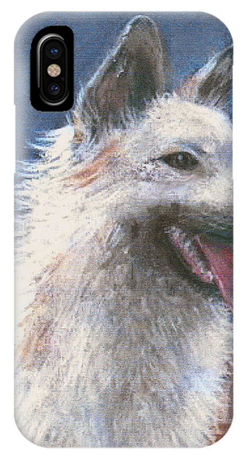 Dog IPhone X / XS Case featuring the pastel Anticipating Their Return by Arline Wagner