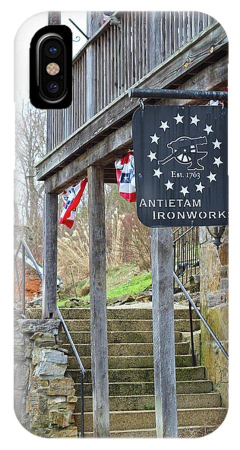 Antietam Battlefield IPhone X Case featuring the photograph Antietam Ironworks by JB Stran