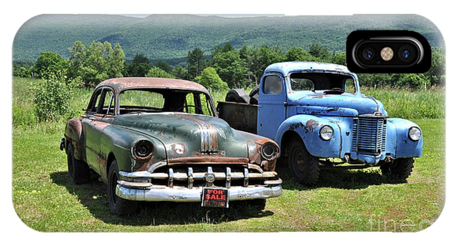 Antique IPhone X Case featuring the photograph Antique Cars by Wanda-Lynn Searles