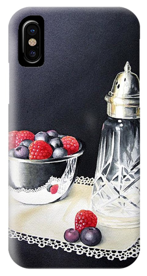 Watercolour IPhone X Case featuring the painting Antique Sugar Shaker by Brenda Brown
