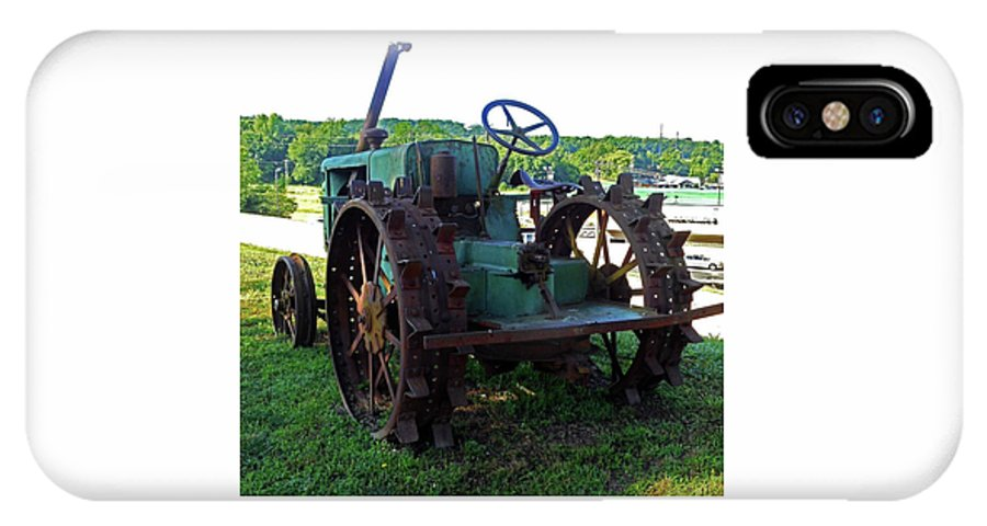 Hurricane Mills IPhone X Case featuring the photograph Antique Tractor 2 by Ron Kandt
