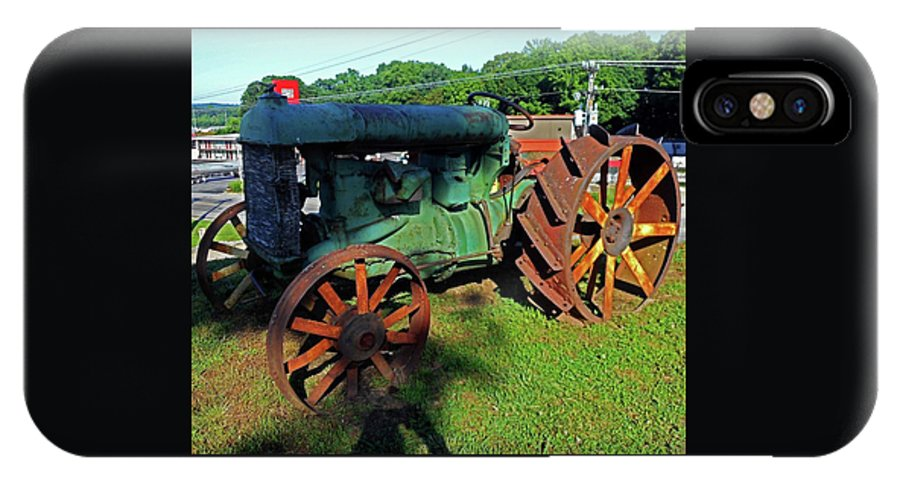 Hurricane Mills IPhone X Case featuring the photograph Antique Tractor 3 by Ron Kandt