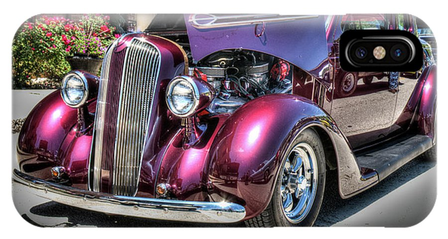 Auto IPhone X Case featuring the photograph Antique Vibrant Vintage Vehicle 15 by Douglas Barnett