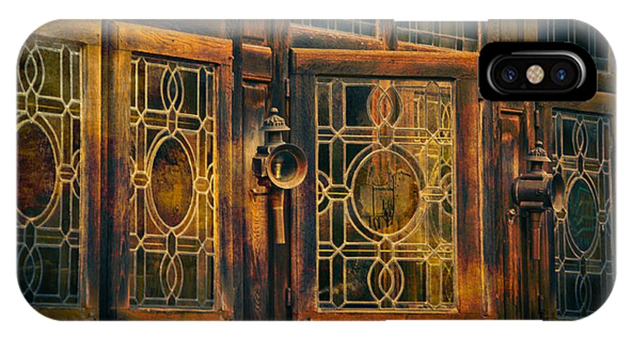 Loriental IPhone X Case featuring the photograph Antique Windows by Loriental Photography