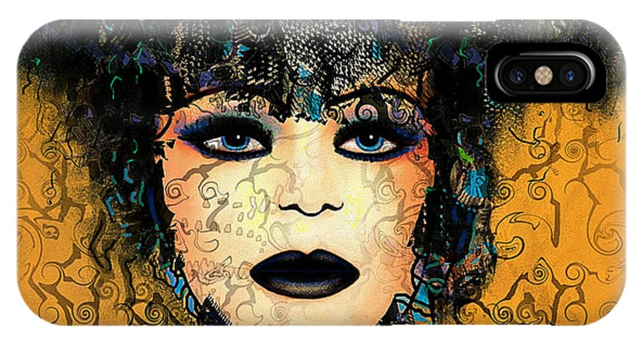 Natalie Holland Art IPhone X Case featuring the painting Antonia by Natalie Holland