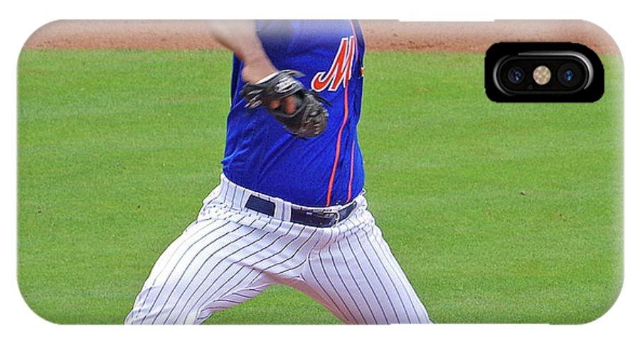 Antonio Bastardo IPhone X / XS Case featuring the photograph Antonio Bastardo New York Mets by Bruce Roker